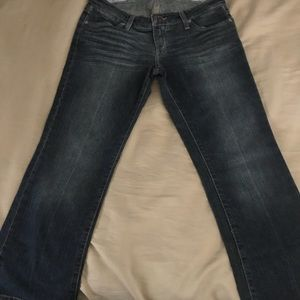 American Eagle Crop Jeans Limited Blue Size 8 Reg